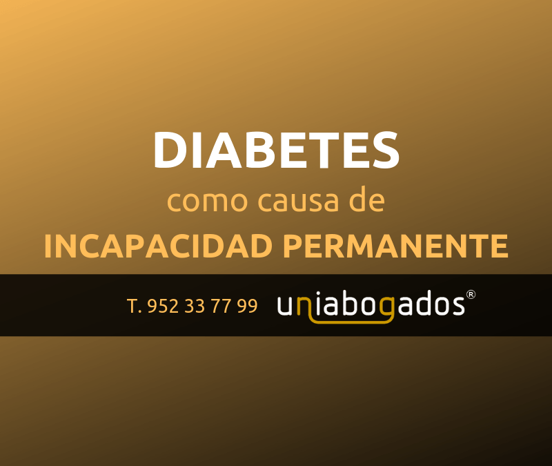 Diabetes como causa de incapacidad permanente